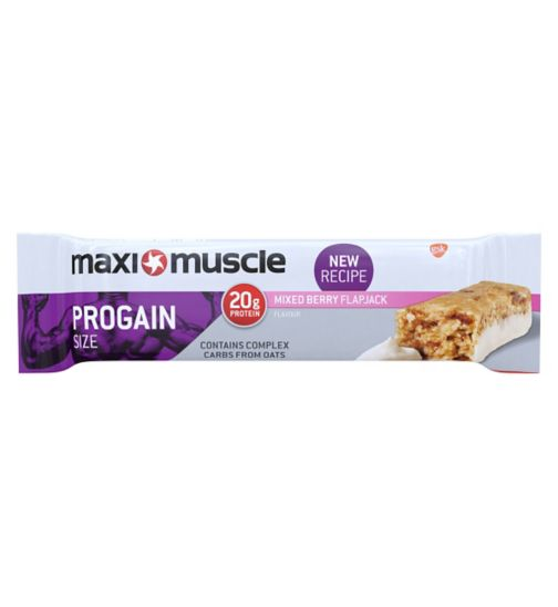 Maximuscle Progain Flapjack Mixed Berry -  90g