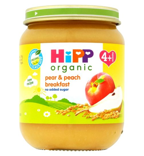 HiPP Organic Pear & Peach Breakfast 4+ Months 125g