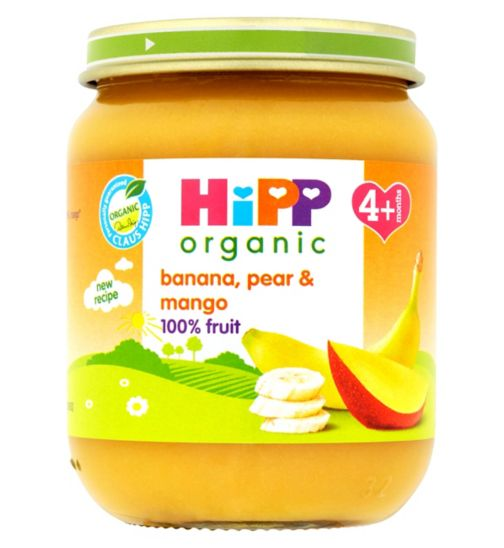HiPP Organic Banana, Pear & Mango 4+ Months 125g