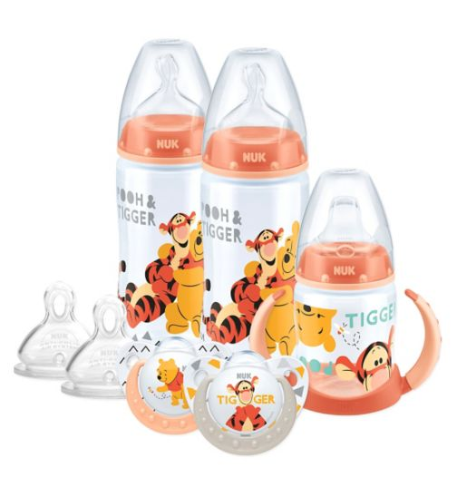NUK Disney Winnie & Friends First Years Bottle, Soother & Cup Set 0-18 Months