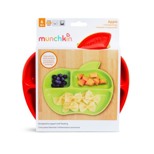 Munchkin 3 Lil' Apple Plates 6m+