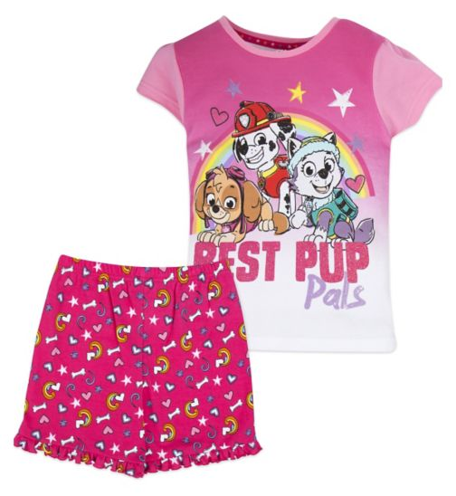 Mini Club Girls Short Pyjamas Paw Patrol