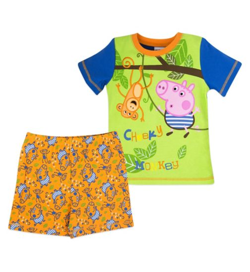 Mini Club Boys Short Pyjamas George Pig