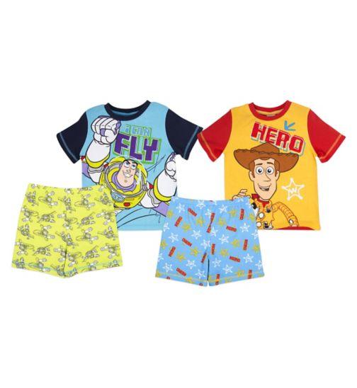Mini Club Boys 2 Pack Short Pyjamas Toy Story