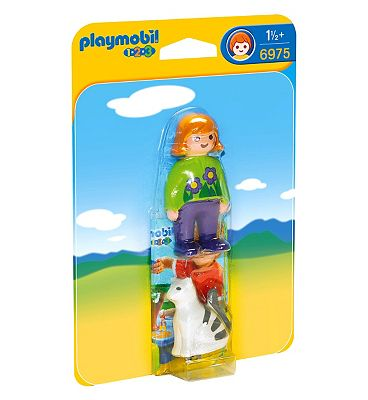 PLAYMOBIL 123 WOMAN WITH CAT 6975