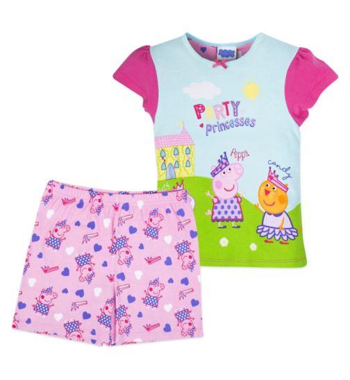Mini Club Girls Short Pyjamas Peppa Pig Princess