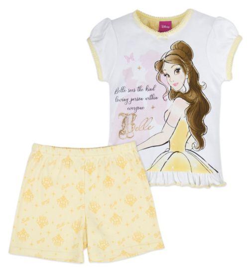 Mini Club Girls Short Pyjamas Beauty and the Beast