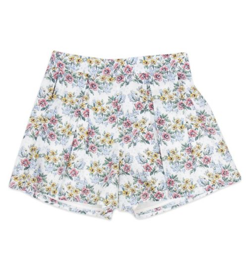 Mini Club Girls Shorts Floral White