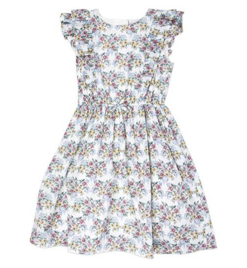 Mini Club Girls Dress Floral White