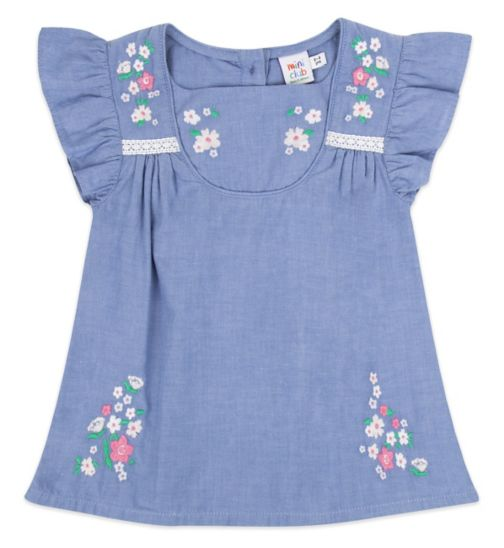 Mini Club Top Chambray Blue
