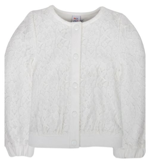 Mini Club Girls Lace Bomber Jacket White