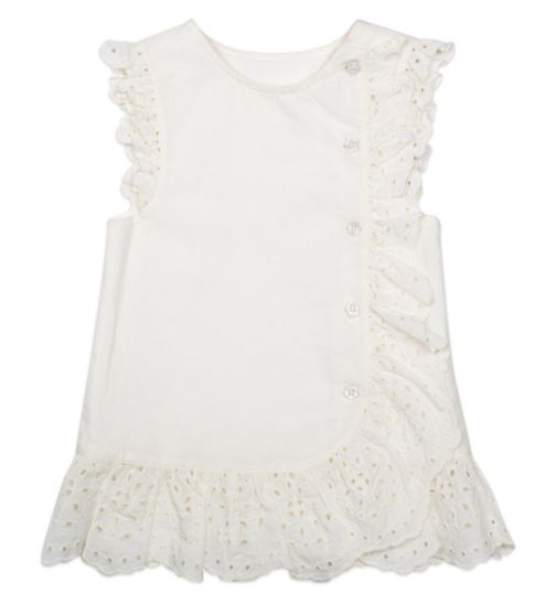 Mini Club Girls Sleeveless Top Cream