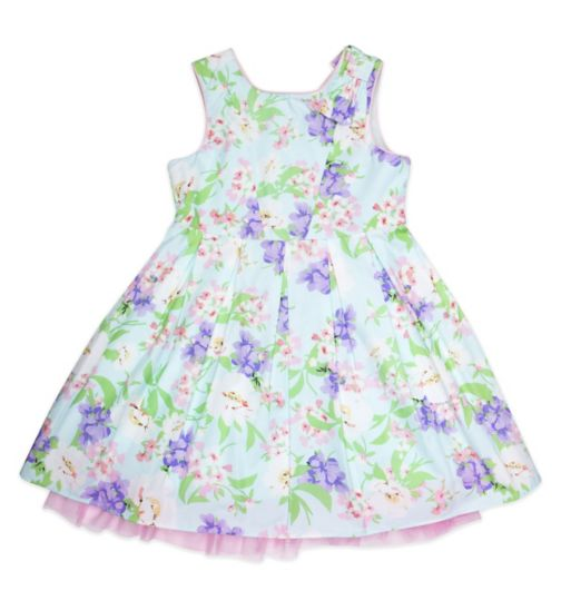 Mini Club Girls Sleeveless Dress Blue Floral