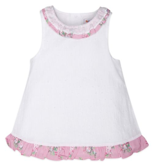 Mini Club Girls Sleeveless Blouse White