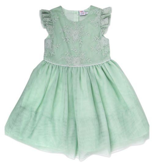Mini Club Girls Dress Mint Lace