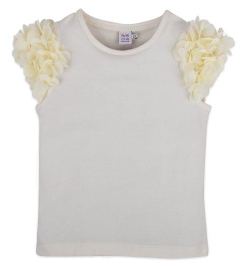 Mini Club Girls Top Cream Floral