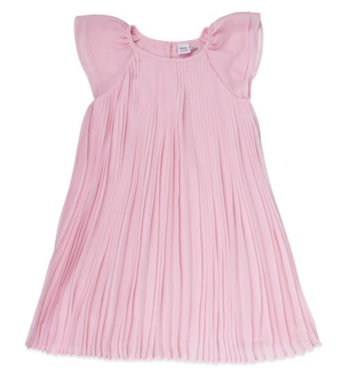 Mini Club Girls Pleated Dress Pink