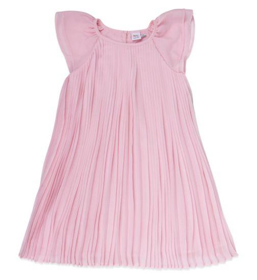 Mini Club Girls Pleated Dress Pink