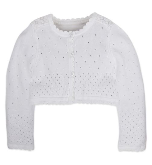 Mini Club Girls Cardigan White