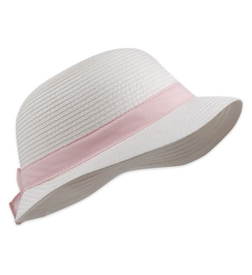 Mini Club Girls Sun Hat White
