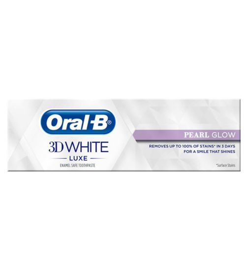 Oral-B 3D White Luxe Pearl Glow Toothpaste 75ml