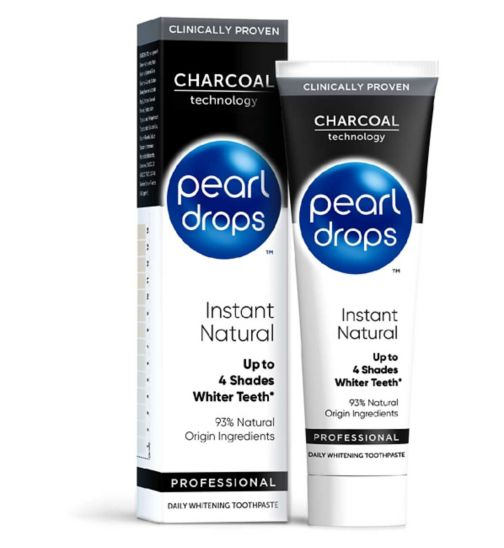 Pearl Drops Instant Natural White Charcoal Toothpaste 75ml