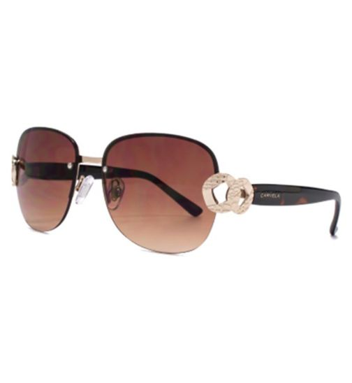 Carvela Semi Rimless Metal Sunglasses