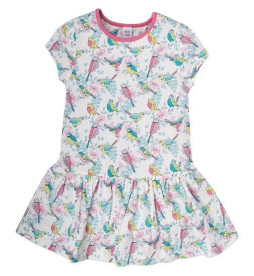 Mini Club Girls Dress White Bird