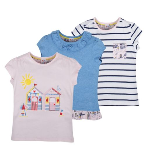 Mini Club Girls 3 Pack Tops Beach Hut