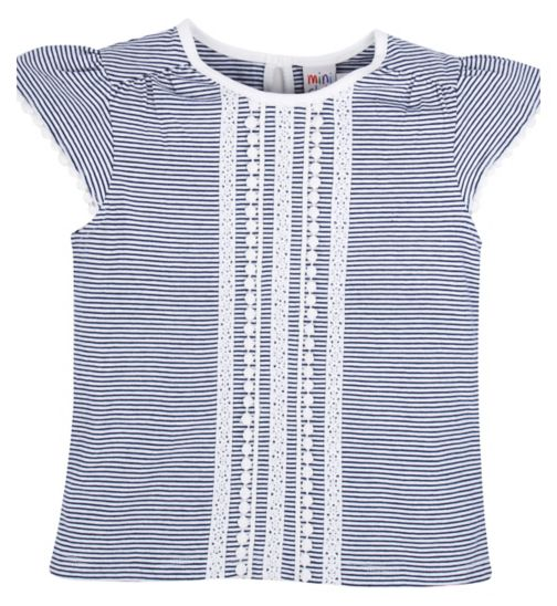 Mini Club Girls Short Sleeve Top Stripe