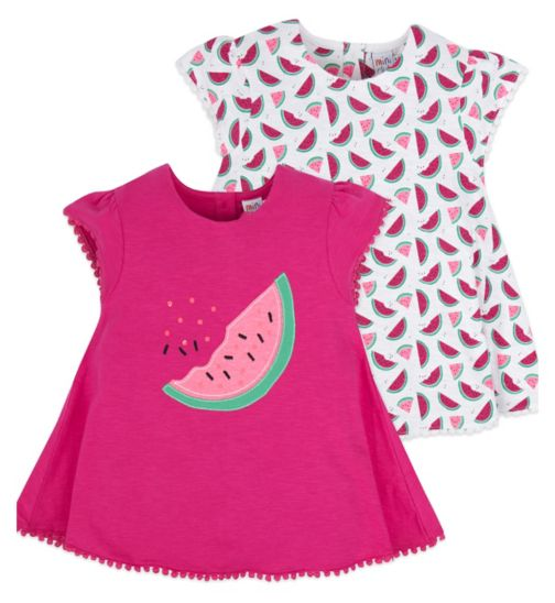 Mini Club Girls 2 Pack Top Pink Watermelon