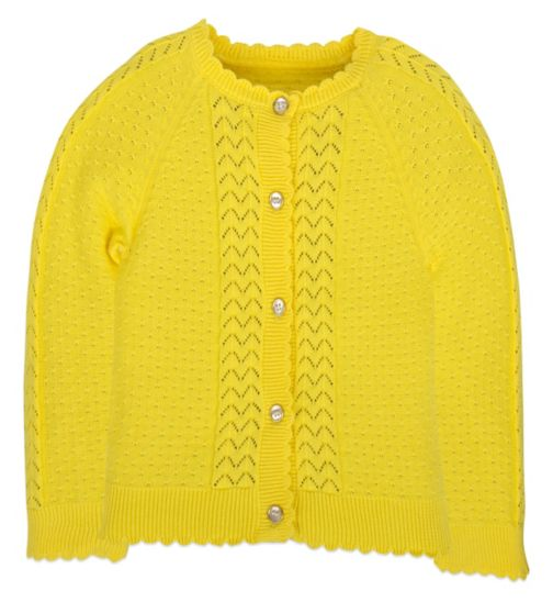 Mini Club Girls Cardigan Yellow