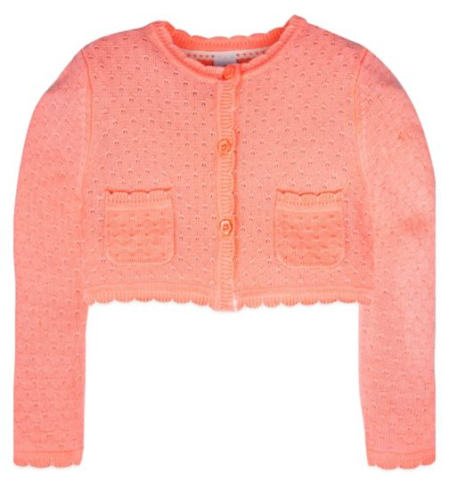 Mini Club Girls Crop Cardigan Peach Pink