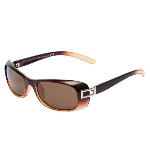 Boots Polarised Womens Small Brown Rectangle Sunglasses