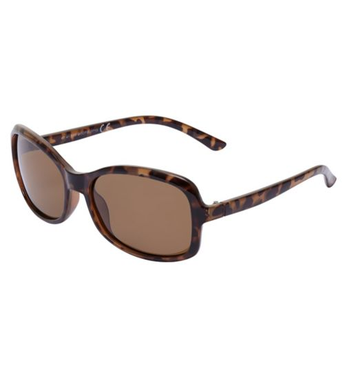 Boots Polarised Womens Brown Fine Frame Sunglasses