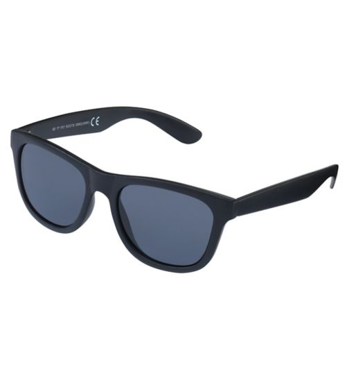 Boots Mens Black Matt Wayfarer Sunglasses