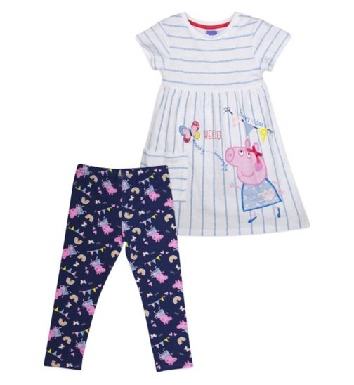 Mini Club Girls Dress and Legging Set Peppa Pig