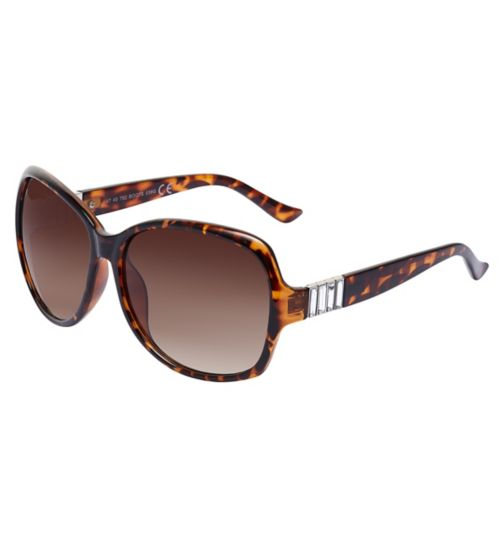 Boots Womens Brown Diamante Sunglasses