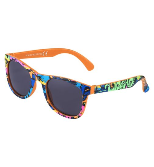 Boots Kids Graffiti Print Wayfarer Sunglasses