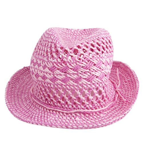 Mini Club Girls Straw Hat Pink