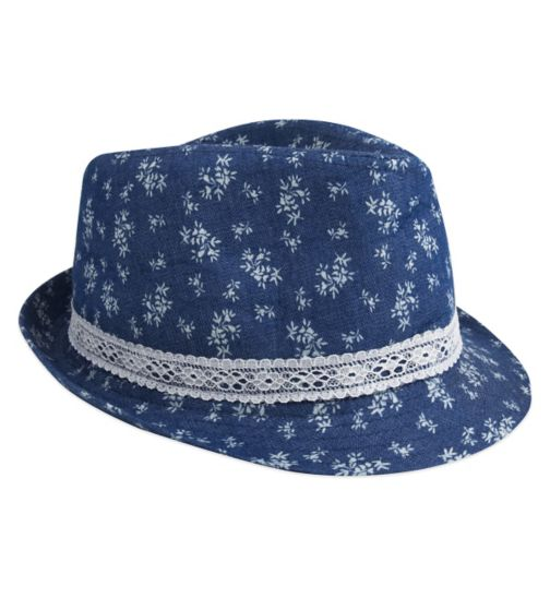 Mini Club Girls Hat Denim Floral