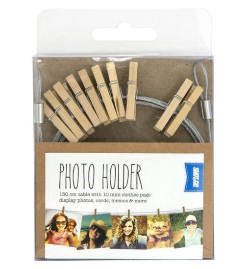 Shot2go peg photo holder wooden