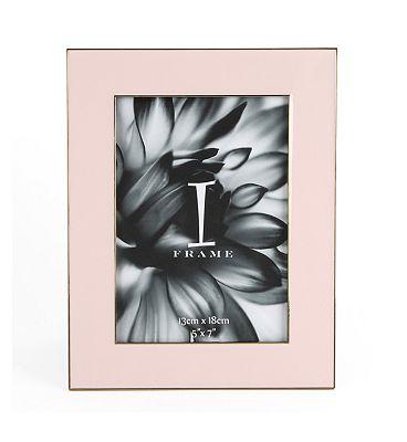 I-Frame Pink Epoxy Photo Frame 5x7