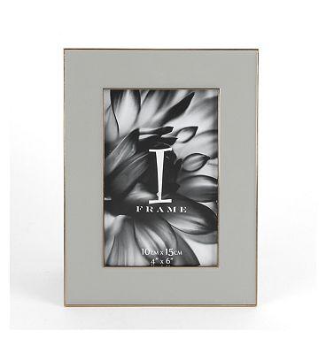 I-Frame Grey Epoxy Photo Frame 4x6