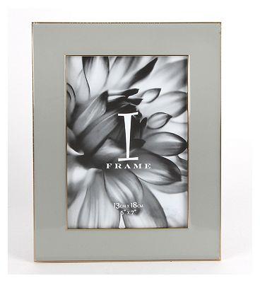 I-Frame Grey Epoxy Photo Frame 5x7