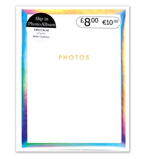 Anker white iridescent square 18x13cm 7x5 72 pocket