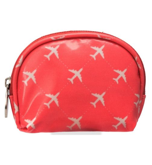 Damsel Travel Essentials Kit Coral and Aeroplanes