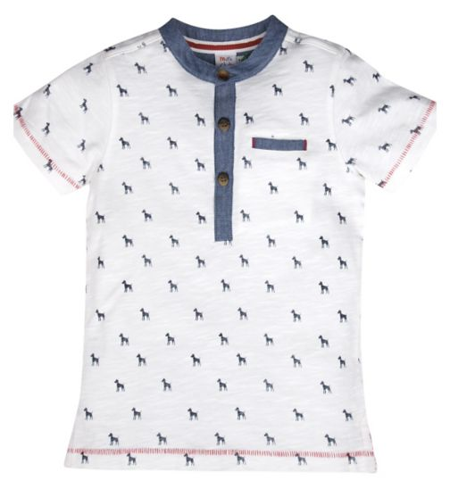 Mini Club Boys Short Sleeve Polo Dog