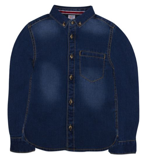 Mini Club  Boys Denim Shirt Blue