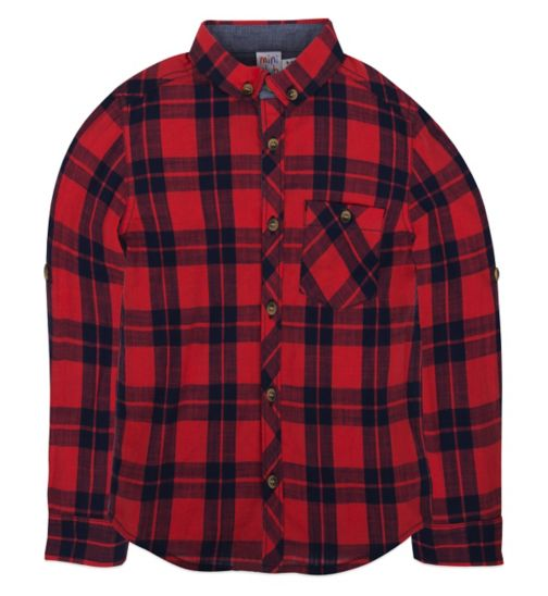 Mini Club  Boys Check Shirt Red